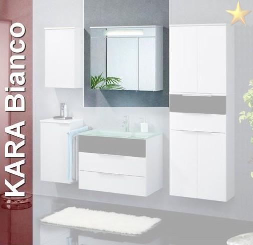 fackelmann spiegelschrank kara 80 led in wei. Black Bedroom Furniture Sets. Home Design Ideas