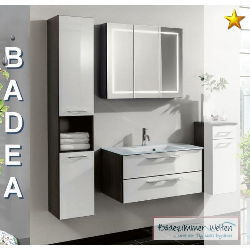 badm bel weiss grau. Black Bedroom Furniture Sets. Home Design Ideas