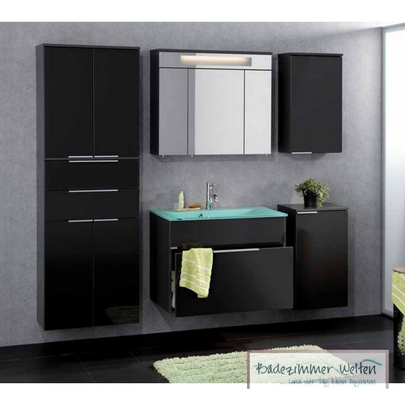 fackelmann badm bel kara anthrazit set 6 1 lgl glasbecken badm bel und. Black Bedroom Furniture Sets. Home Design Ideas
