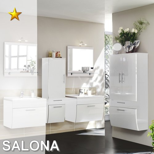 Posseik Badmobel Set Salona.Posseik Badmobel Salona Set 4 In Weiss Hochglanz