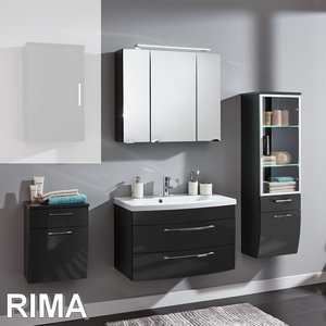 Posseik Rima Set 2 in Anthrazit-Hochglanz
