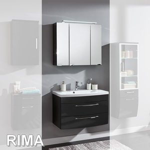 Posseik Rima Set 6 in Anthrazit-Hochglanz