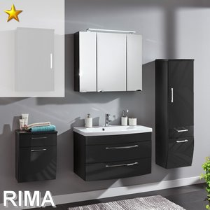 Posseik Rima Set 8 in Anthrazit-Hochglanz