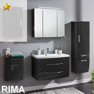 Posseik Rima Set 11 in Anthrazit-Hochglanz