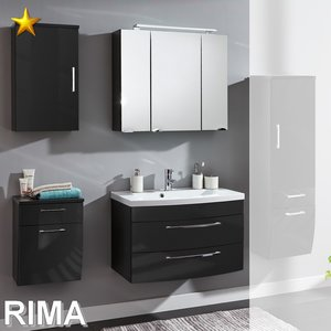 Posseik Rima Set 13 in Anthrazit-Hochglanz