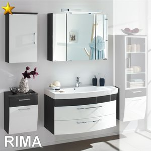 Posseik Rima Set 3 in Anthrazit-Weiß-Hochglanz