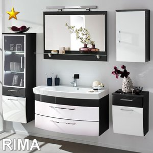 Posseik Rima Set 13 in Anthrazit-Weiß-Hochglanz inkl....
