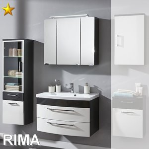 Posseik Rima Set 37 in Anthrazit-Weiß-Hochglanz
