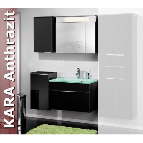 fackelmann kara anthrazit glas badezimmer. Black Bedroom Furniture Sets. Home Design Ideas