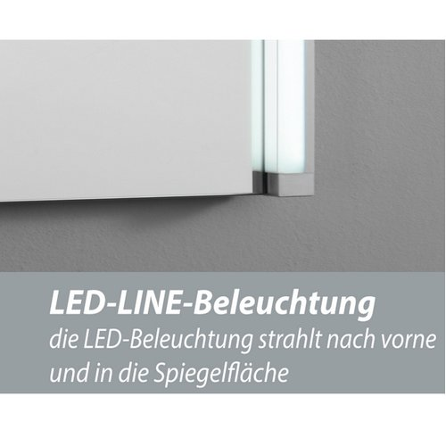Fackelmann Spiegelelement LED-LINE 60,5 cm Stripes