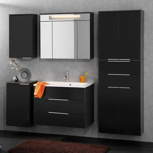 fackelmann badm bel kara anthrazit set 7 mit gussbecken. Black Bedroom Furniture Sets. Home Design Ideas